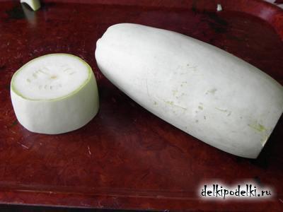 Поделки из овощей кошка из кабачков